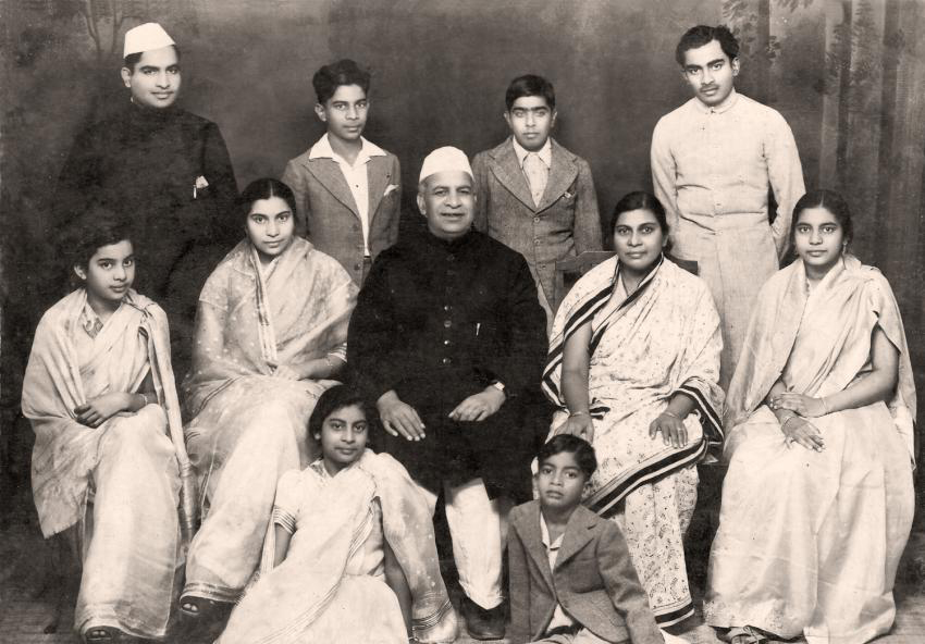 Young Shri Mataji with her family